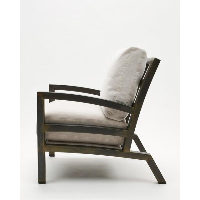 Gil Melott Bespoke Tx6315 Handmade Custom Steel Urban Lounge Chair for Studio 6f For Sale - Image 4 of 7