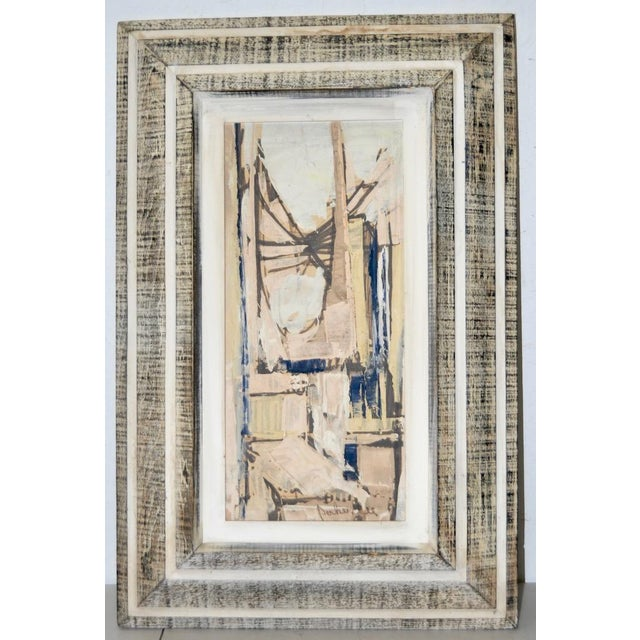 Abstract Matching Pair of Parker Lee Mid Century Modern Abstract Gouache C.1950s For Sale - Image 3 of 6
