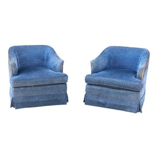 Mid Century Chinelle Swivel Chairs - a Pair For Sale