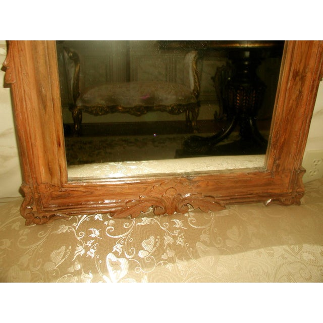 Late 19th Century Carved Wooden Mirror 19th Century For Sale - Image 5 of 8