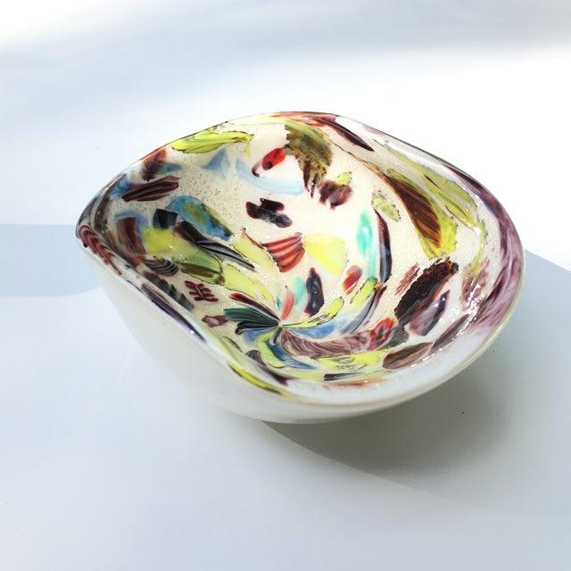 Vintage A.Ve.M. Multicolored Millefiori Venetian Bowl For Sale - Image 6 of 9