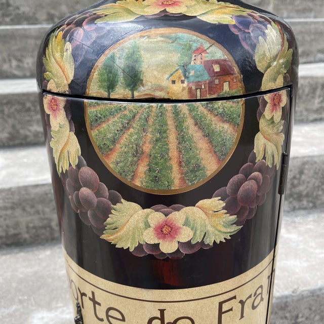 1990s Large Decorative Wine Bottle Caddy For Sale - Image 5 of 11