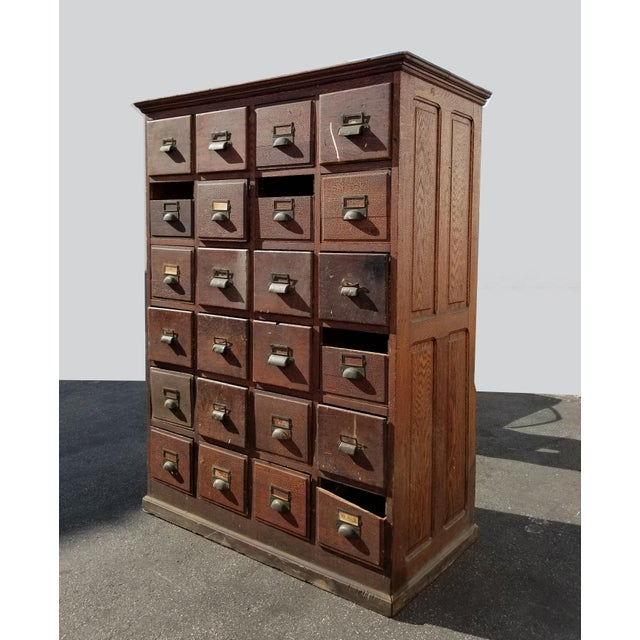 20th Century French Country 24-Drawer Apothecary File