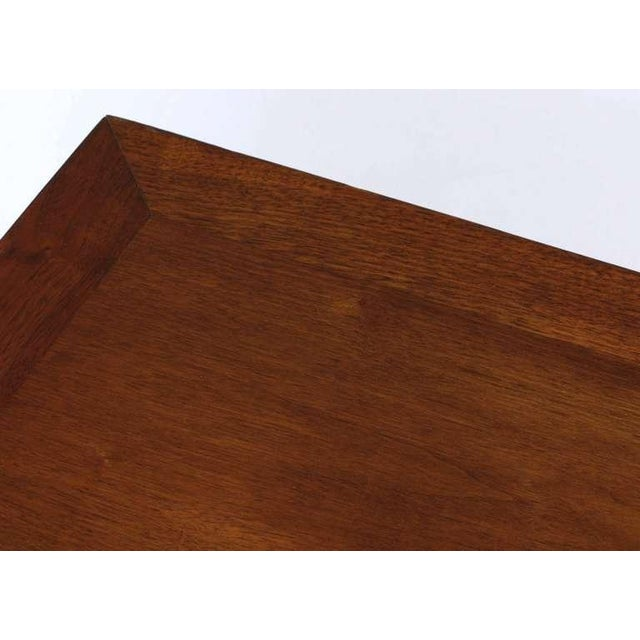 Edward Wormley Mahogany & Rosewood Raised Edge Credenza For Sale In Chicago - Image 6 of 8
