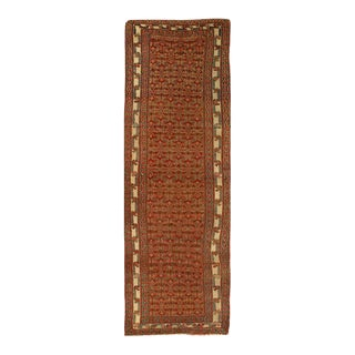 Pasargad Rust Antique Malayer Runner- 3'3'' X 9'4'' For Sale