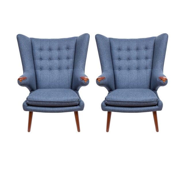"Pavel Armchair modeled after the Hans Wegner Papa bear chair circa 1950's. Seat Height-16"" Seat Depth -21"" COM..."