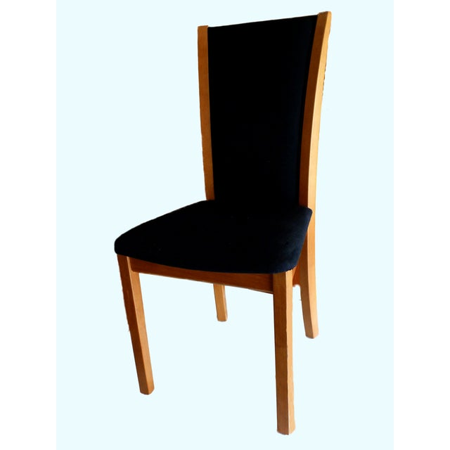 Skovby Cherry & Black Dining Chairs - Set of 8 - Image 2 of 6