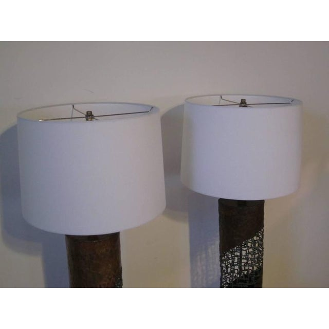 Marcello Fantoni Fantoni Brutalist Torch Cut Lamps for Raymor - a pair For Sale - Image 4 of 7