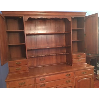 20th Century American Classical Statton 2 Piece Cherry Hutch Preview
