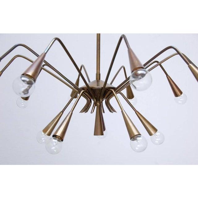 Gold Sputnik Chandelier by Lumi For Sale - Image 8 of 10
