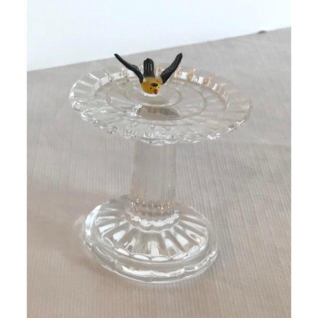 Waterford Vintage Waterford Crystal Birdbath For Sale - Image 4 of 10