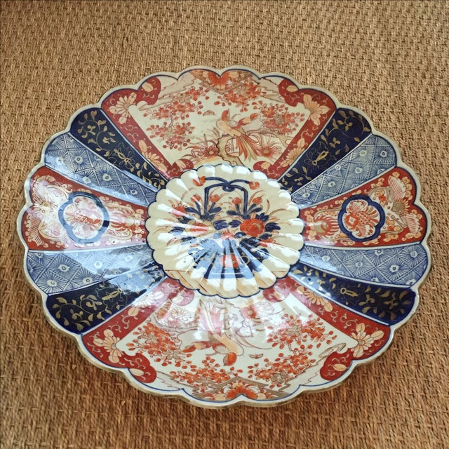Antique Monumental Japanese Imari Charger - Image 3 of 6
