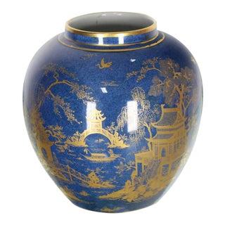 Carlston Ware Globe Shape Cobalt Blue Vase For Sale