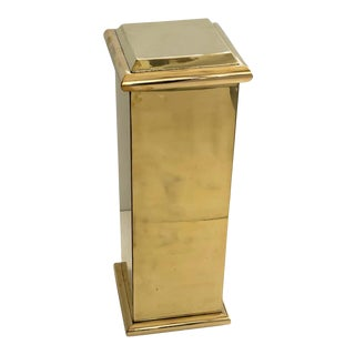 "30"" Polished Brass Pedestal by Crafts For Sale"