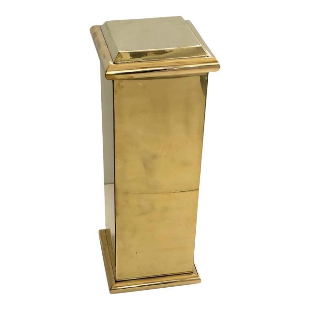 "30"" Polished Brass Pedestal by Crafts For Sale"