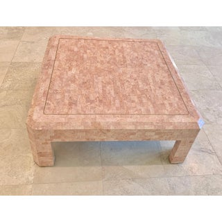 Maitland Smith Hollywood Regency Pink Tessellated Stone Coffee Table Preview