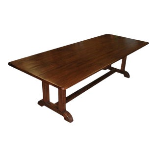Arts and Crafts Dining Table Made From Vintage Black Walnut For Sale