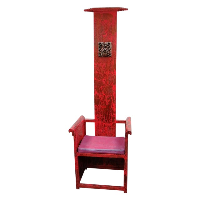 """Tall Asian Alter Chair 81""""High - Image 1 of 6"""
