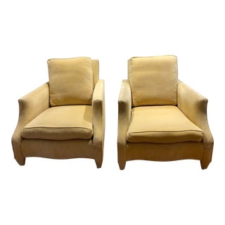 1990s Vintage Donghia Club Chairs- A Pair For Sale