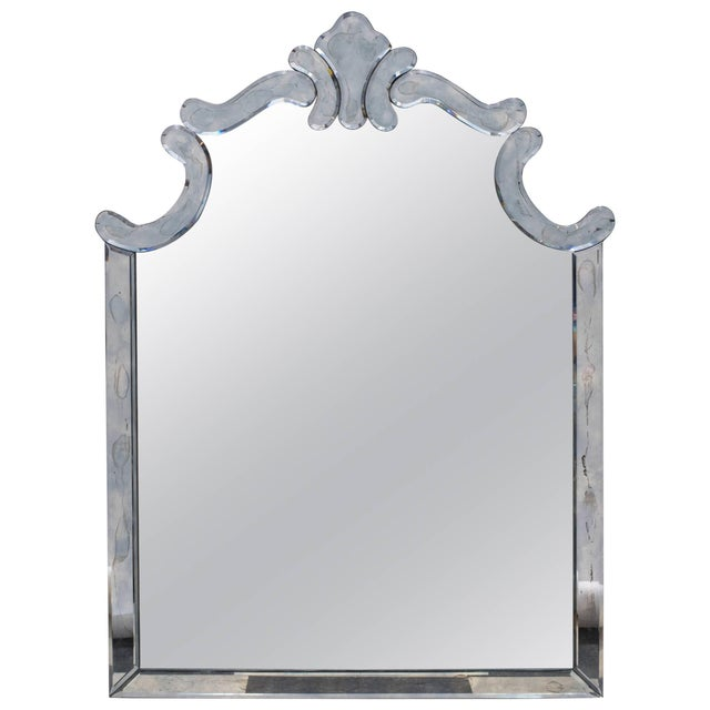 1940s Regency Style Mirror by Marchand For Sale - Image 9 of 9