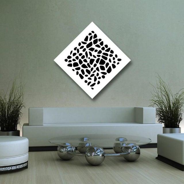 Pop Art Chuck Krause Stones (Black), original three dimensional geometric design wall relief 2020 For Sale - Image 3 of 4