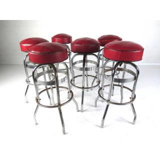 Set of Six Vintage Bar Stools by Helene Curtis Preview