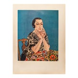 Image of 1954 Raoul Dufy, Portrait of Mme Dufy First Edition Lithograph For Sale
