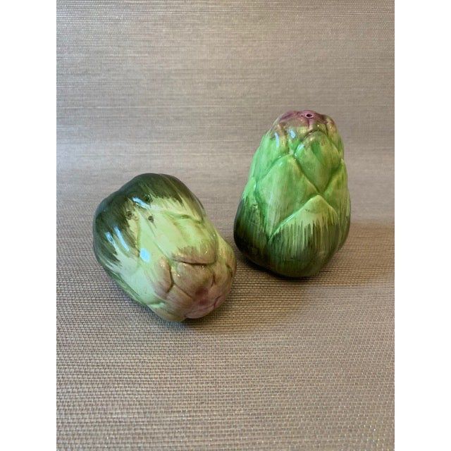Artichoke Salt and Pepper Shakers-Fitz Floyd For Sale In New York - Image 6 of 6