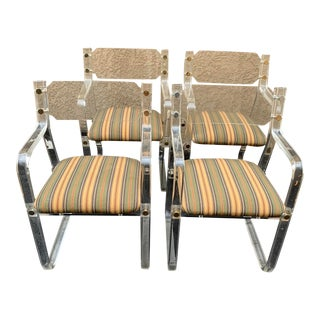 Charles Hollis Jones Lucite Dining Chairs - Set of 4 For Sale