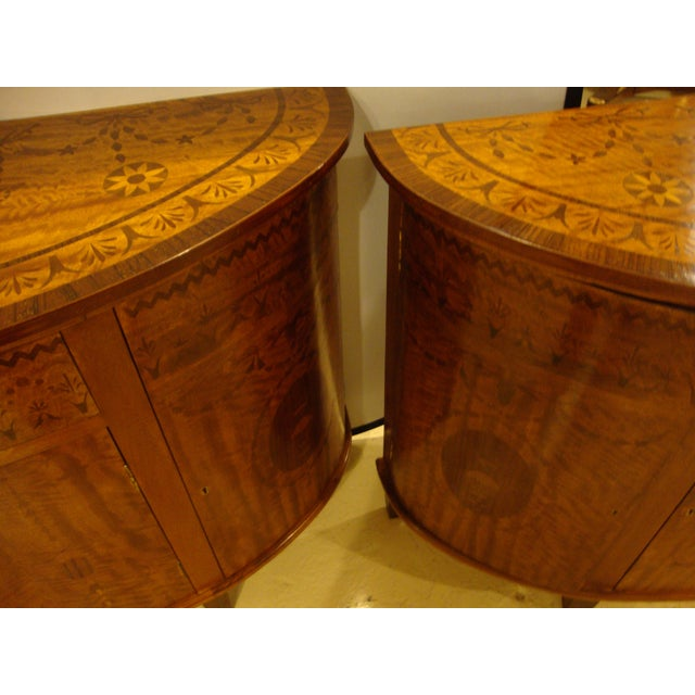 Hollywood Regency Adams Style Demilune Console Tables - A Pair For Sale - Image 3 of 11