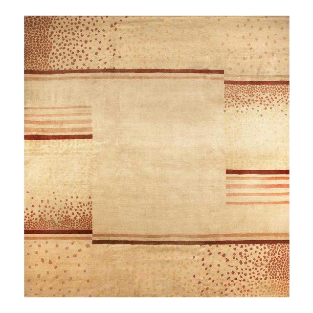 Original Wool Rug Designed by d.i.m, Circa 1940 For Sale