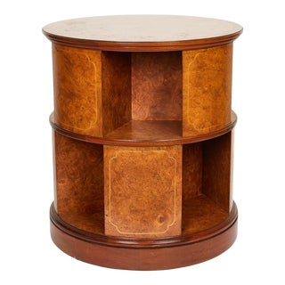 Revolving Circular Library Bookcase of Bird's-Eye Maple For Sale
