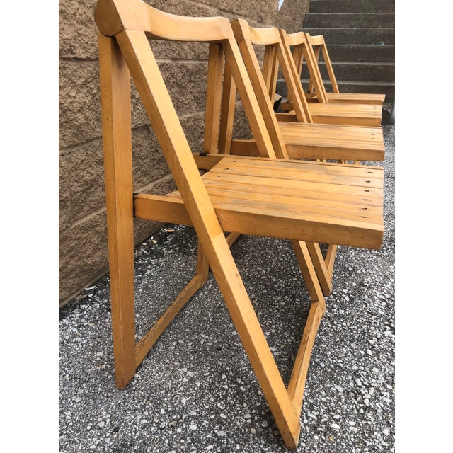 Mid Century Modern Danish Folding Chairs- Set of 4 For Sale - Image 9 of 10