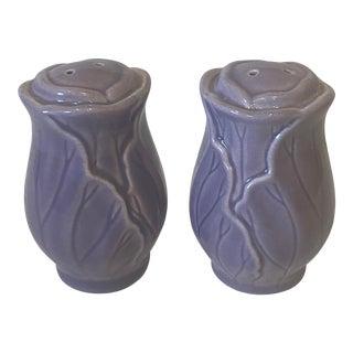 Metlox Newell Stevens Lotus Salt & Pepper Shakers For Sale