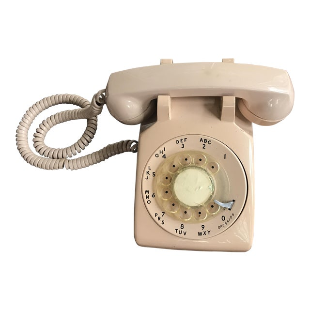 Vintage Mid-Century Modern Rotary Dial Desk Phone - Image 1 of 4