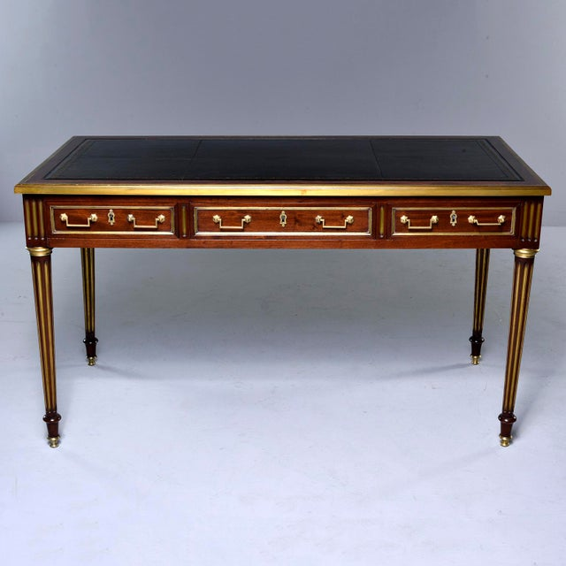 Louis XVI Style Mahogany Writing Desk With Brass Mounts For Sale - Image 13 of 13