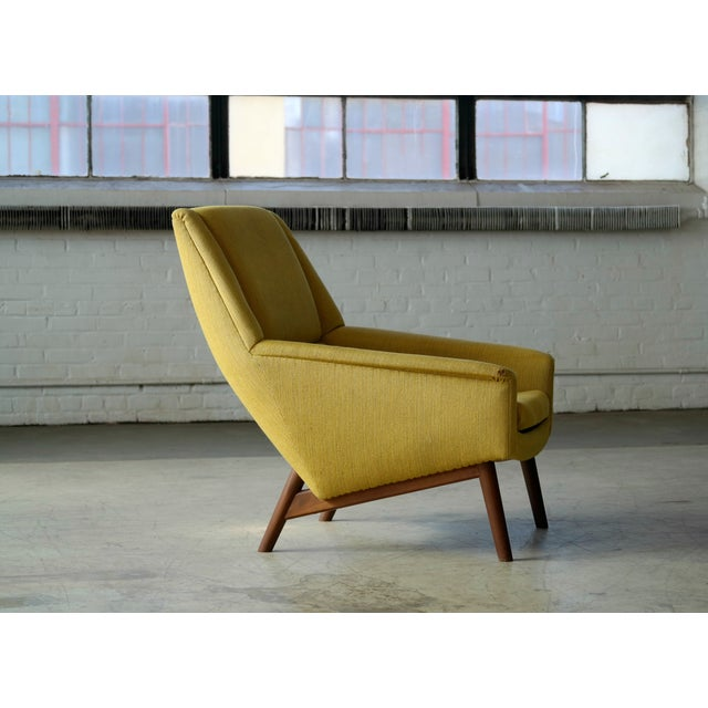 Wood Folke Ohlsson 1950s Mid-Century Danish Teak Lounge Chair for Fritz Hansen For Sale - Image 7 of 10