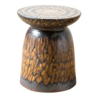 Safari Style Brown Wood Stool Table