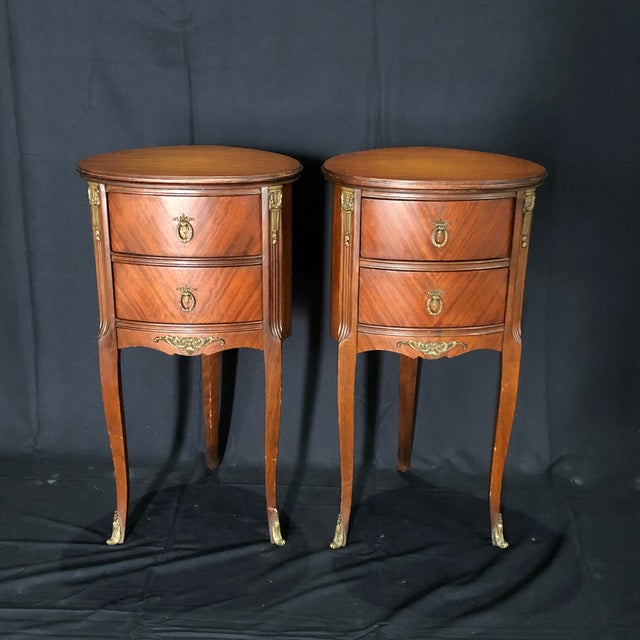 French Louis XV Style Nightstands -A Pair For Sale - Image 12 of 12