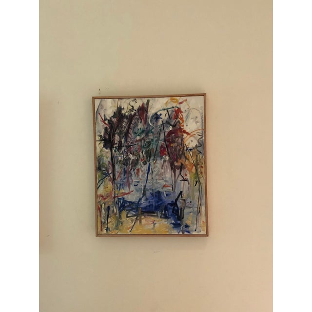 """Abstract 2016 Original Abstract Expressionist """"Magical Moments"""" Painting by Ellen Reinkraut For Sale - Image 3 of 10"""