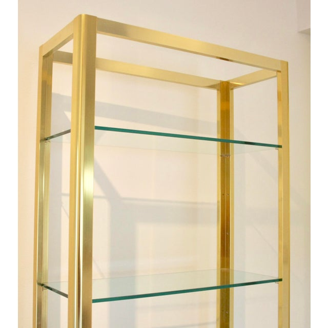 Milo Baughman Style Brass Etagere Shelving Unit For Sale In Dallas - Image 6 of 11