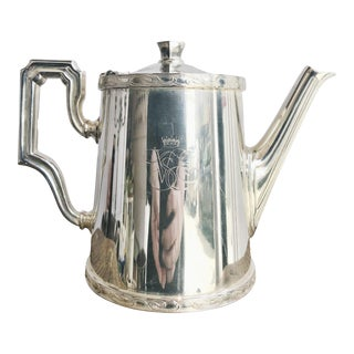 Vintage Silver Plated Coffee Pot From Venice Simplon Orient Express Railway For Sale