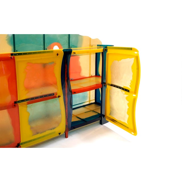 "Gaetano Pesce ""Nobody's Perfect"" Multi-Color Resin Sideboard For Sale In Kansas City - Image 6 of 13"