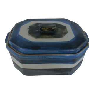 Mid-Century Modern Signed Art Pottery Casserole Box For Sale
