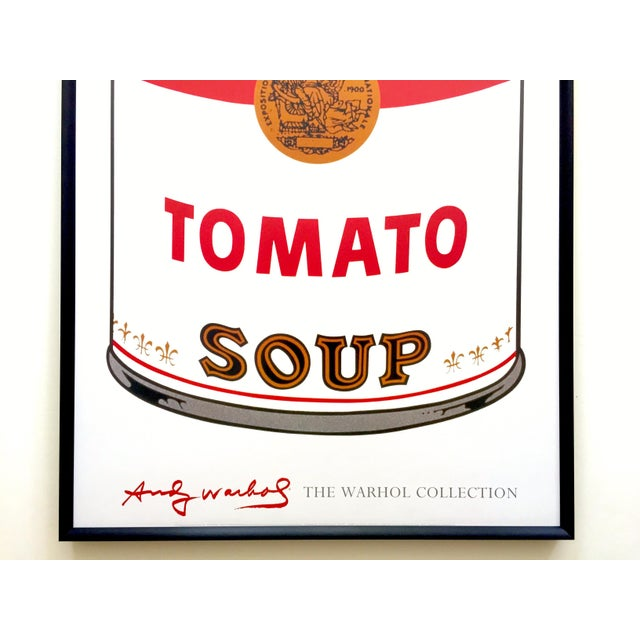 """Americana Andy Warhol Foundation Vintage Large Framed Lithograph Print Iconic Pop Art Poster """" Campbell's Soup I ( Tomato ) """" 1968 For Sale - Image 3 of 13"""