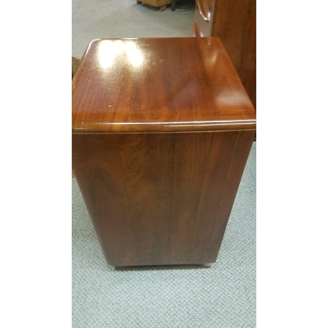 Walnut 1950s Danish Modern Bissman Nighstand For Sale - Image 7 of 13