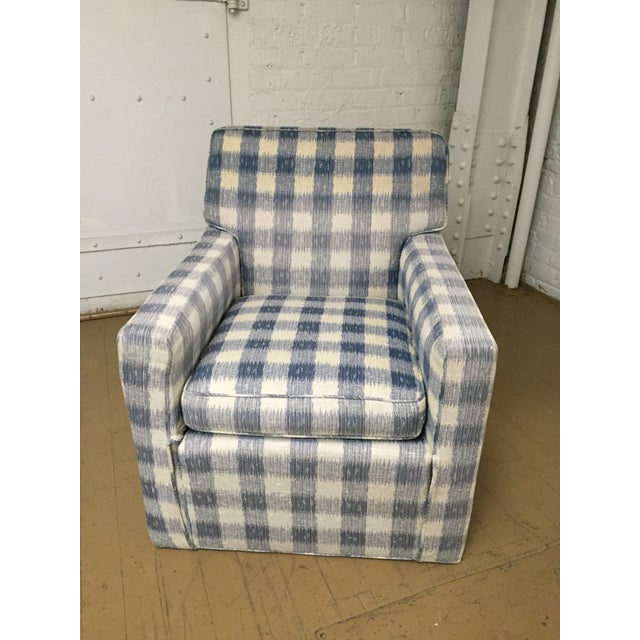 Mid-Century Brunschwig & Fils Upholstered Down Filled Arm Chairs For Sale In Chicago - Image 6 of 11