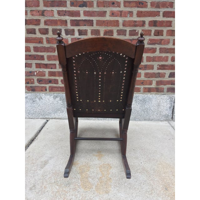 Traditional *Last Chance* Antique Victorian Child's Rocking Chair For Sale - Image 3 of 13