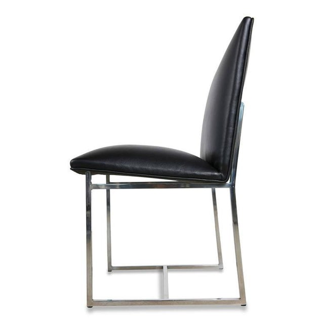 Milo Baughman Dining Chairs Reupholstered in Edelman Leather, Circa 1970 - Set of 8 - Image 3 of 8