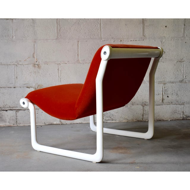 1970s Hannah & Morrison for Knoll Mid Century Modern Sling Lounge Chair For Sale - Image 5 of 13